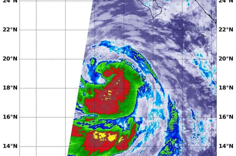 NASA infrared data shows Cristina strengthening