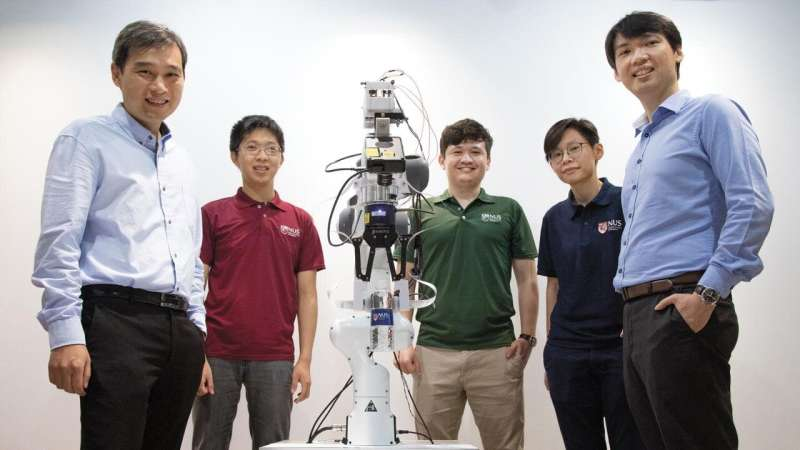 NUS researchers gives robots intelligent sensing abilities to carry out complex tasks