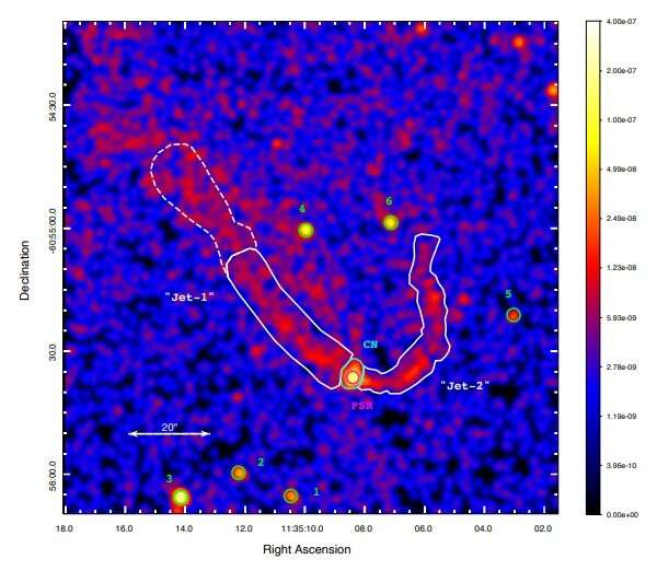 Observations unveil jet-like structures from the pulsar PSR J1135–6055