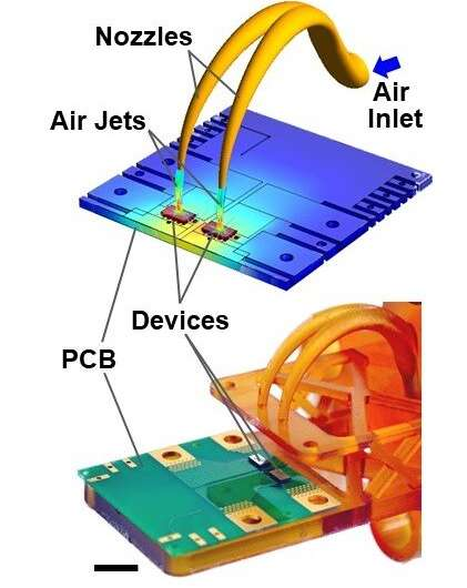 University of Illinois researchers demonstrate new capability for cooling electronics