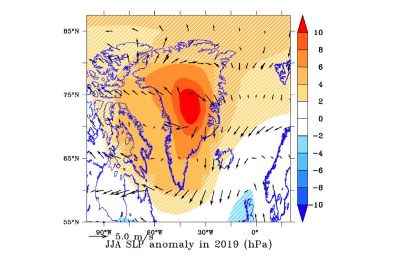 Unusually clear skies drove record loss of Greenland ice in 2019