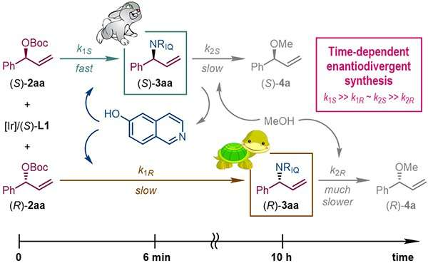 Researchers access both enantiomers by varying reaction time