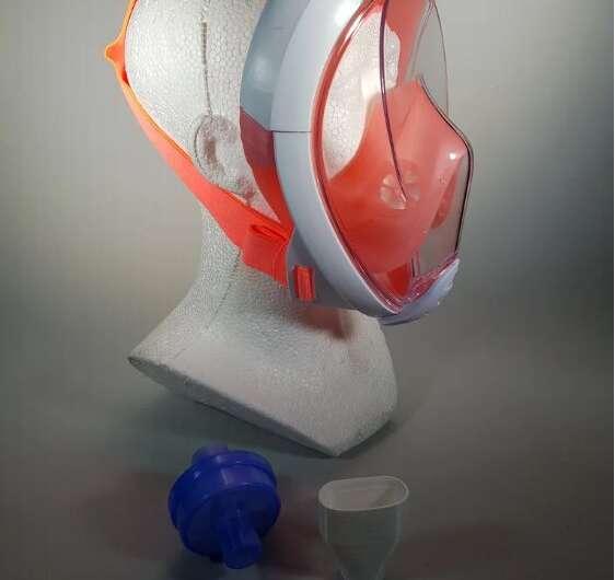 3-D printed component makes snorkel mask useful for medics