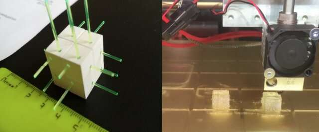 3-D-printed neutrino detectors