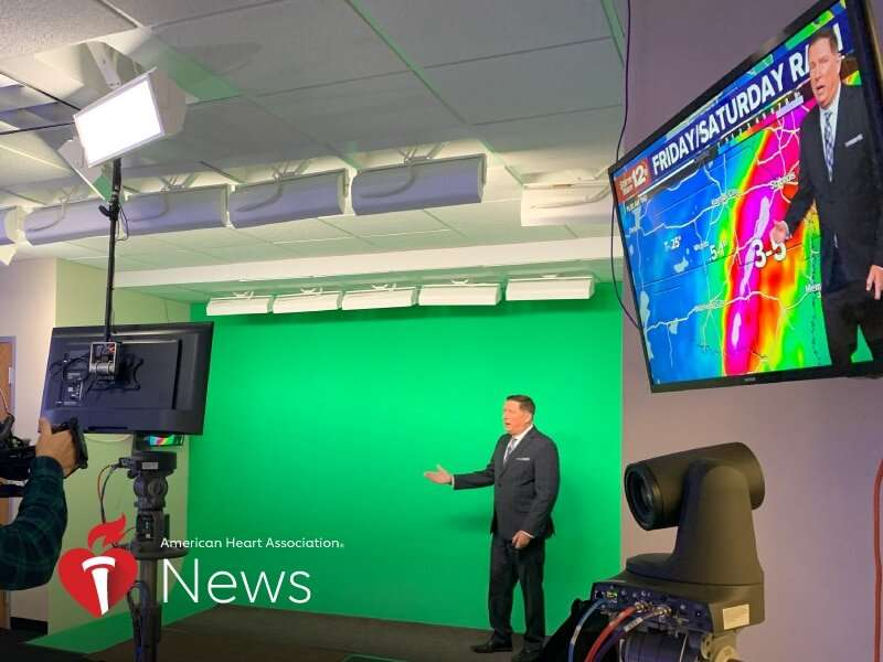 AHA news: after 3 heart attacks, meteorologist hopes for clear skies ahead