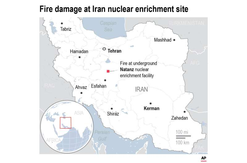 Analysts: Fire at Iran nuclear site hit centrifuge facility