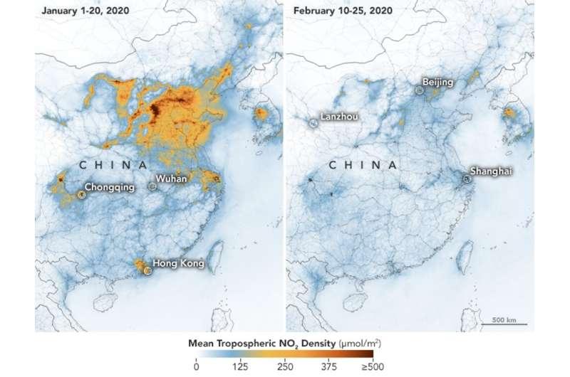 Coronavirus: lockdown's effect on air pollution provides rare glimpse of low-carbon future