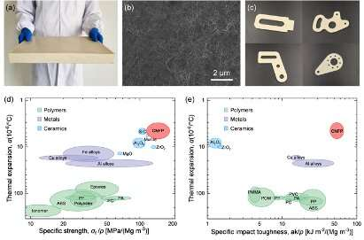 Sustainable structural material for plastic substitute