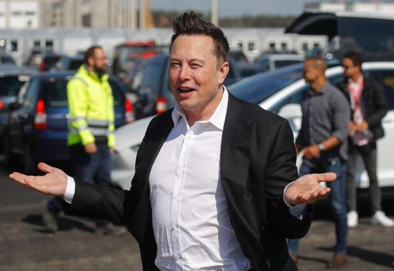 """Tesla CEO Elon Musk (pictured September 3, 2020) said he would announce """"insane"""" battery news that will affect long-te"""