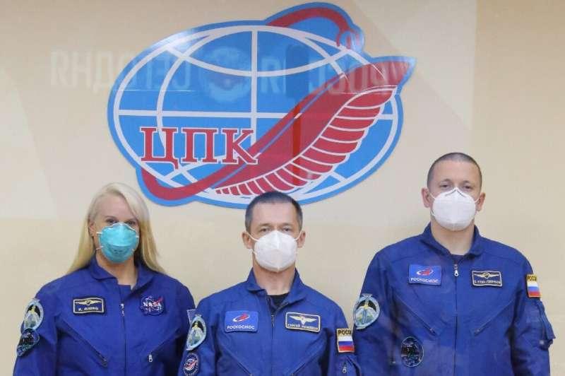 The International Space Station crew of NASA astronaut Kate Rubins and Russian cosmonauts Sergey Ryzhikov and Sergey Kud-Sverchk