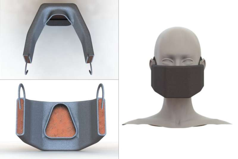 Engineers design a heated face mask to filter and inactivate coronaviruses