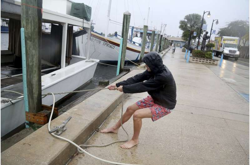 Eta remains a tropical storm as Florida prepares for 2nd hit