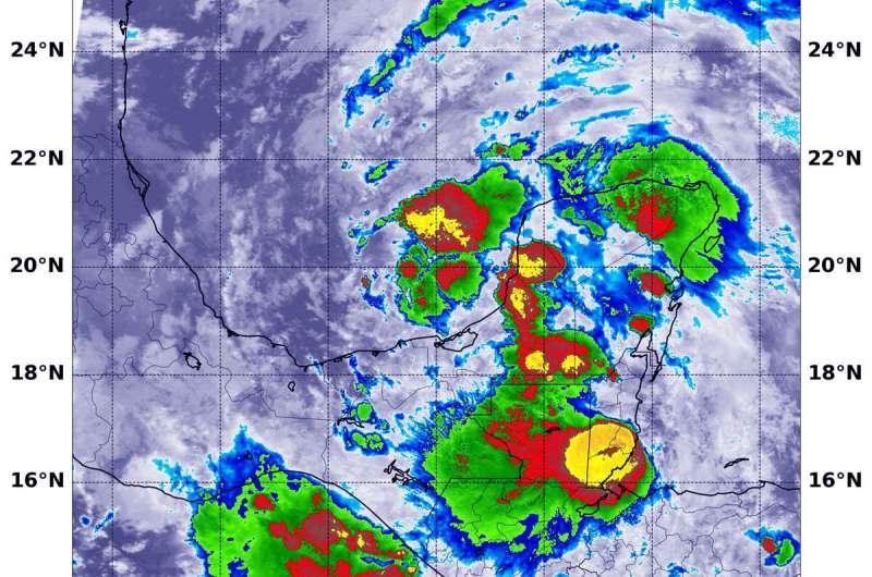 NASA analyzes Gulf of Mexico's reborn tropical depression soaking potential