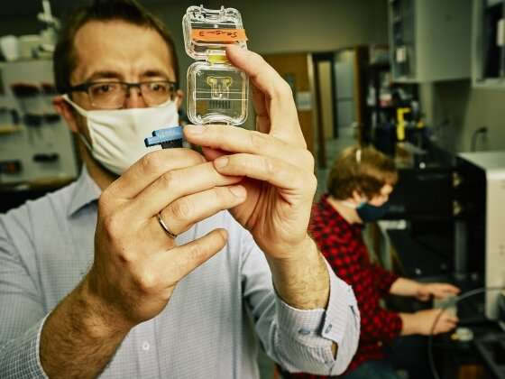 Researchers harness 3-D printing to open new doors for microfluidics