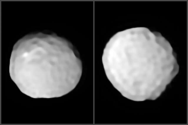 """Study reveals details of """"golf ball asteroid"""""""