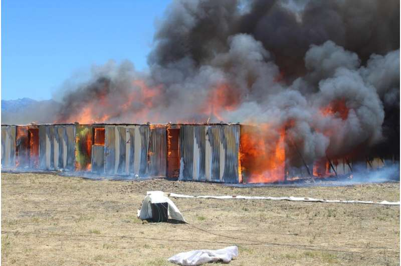 World's largest experiment shows shack fires move with devastating speed