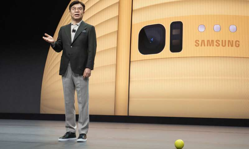Samsung's home helper shaped like ball and rolled to CES