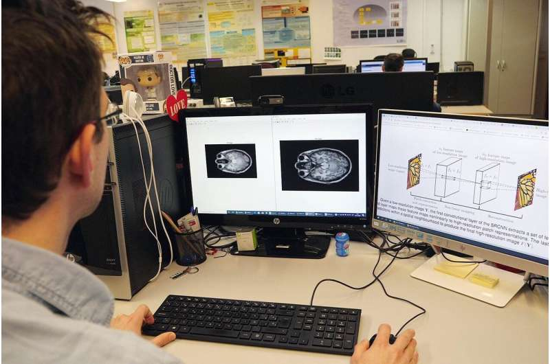 Artificial intelligence to improve resolution of brain magnetic resonance imaging