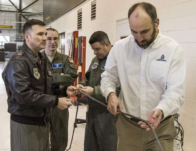 AFRL creates safer-than-steel synthetic winch cable for cargo aircraft