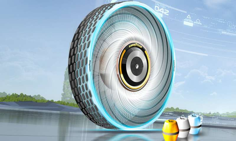 Goodyear tire concept regenerates tread