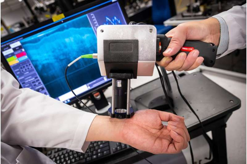 Handheld, high-resolution medical imaging device with potential for bedside scanning