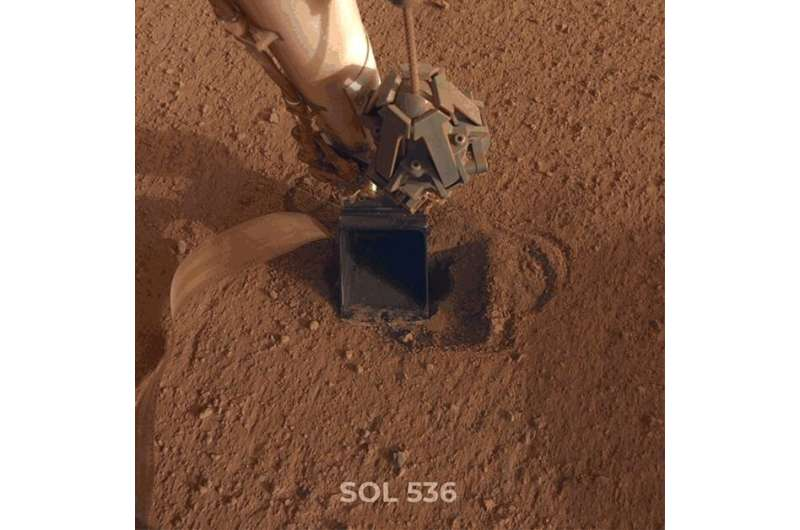 """Fix for Mars lander """"mole"""" may be working"""