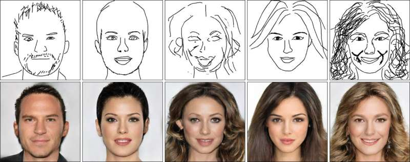 AI creates realistic faces from crude sketches