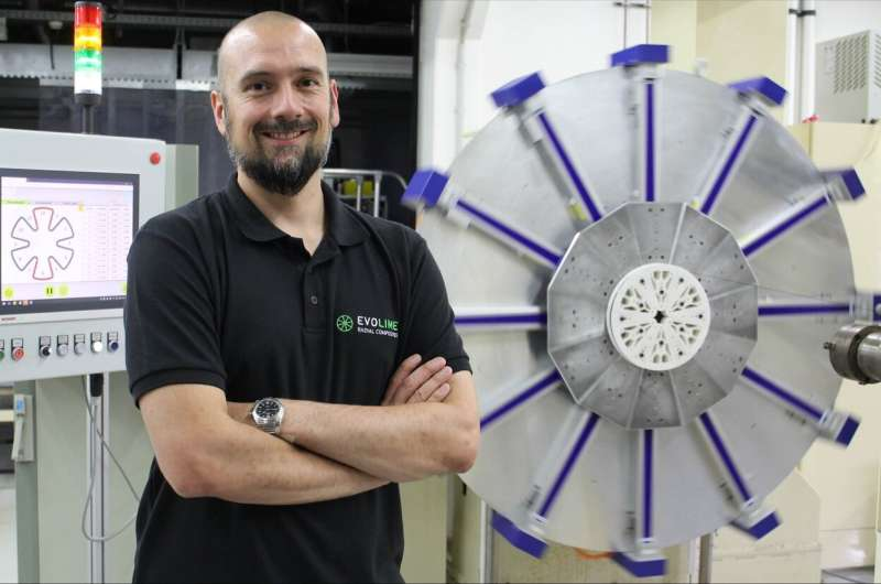 Producing spoke wheels automatically and flexibly from composite materials