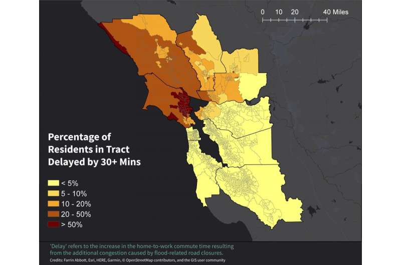 Bay Area coastal flooding triggers regionwide commute disruptions