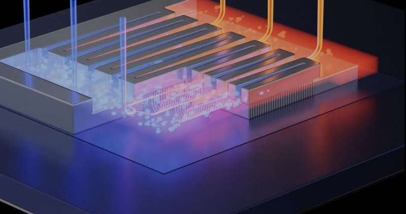 Transistor-integrated cooling for a more powerful chip
