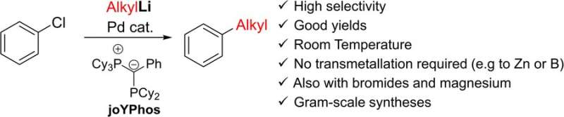Direct coupling of aryl halides and alkyllithium compounds by palladium catalysis