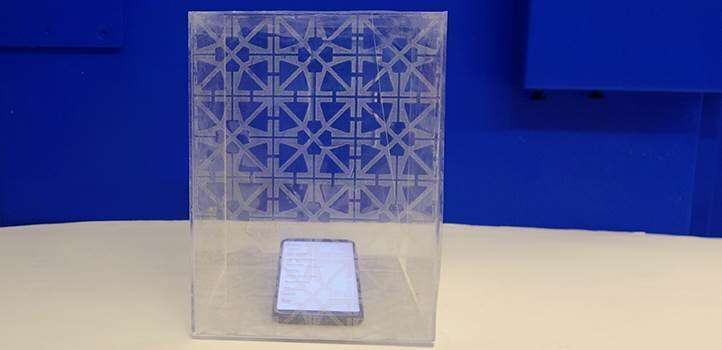 A printable ink that is both conductive and transparent also blocks radio waves
