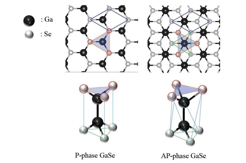 Shapeshifting crystals—varying stability in different forms of gallium selenide monolayers