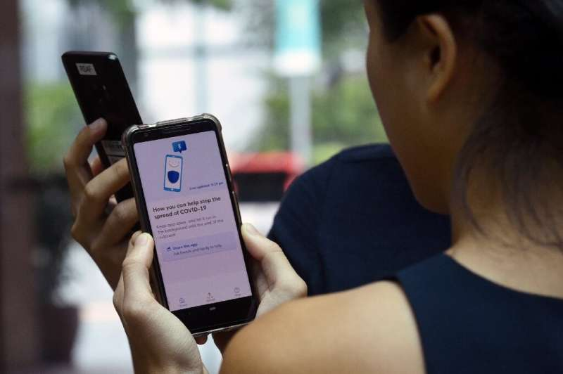 Contact tracing apps like this one used in Singapore can notify people who have been in proximity to an infected person, but som