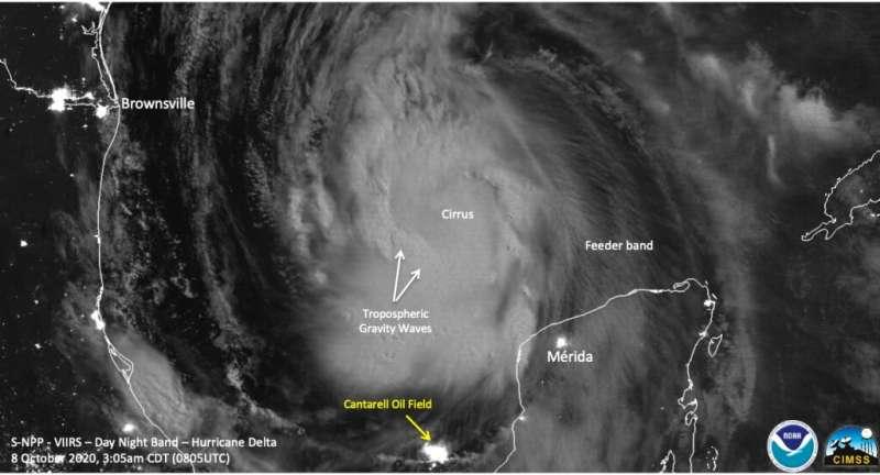 NASA examines Hurricane Delta's early morning structure
