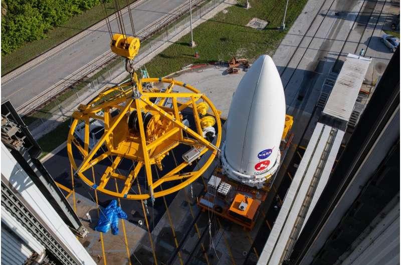 NASA's Perseverance rover attached to Atlas V rocket