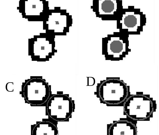 Neural network model finds small objects in dense images