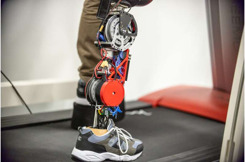 Space station motors make a robotic prosthetic leg more comfortable, extend battery life