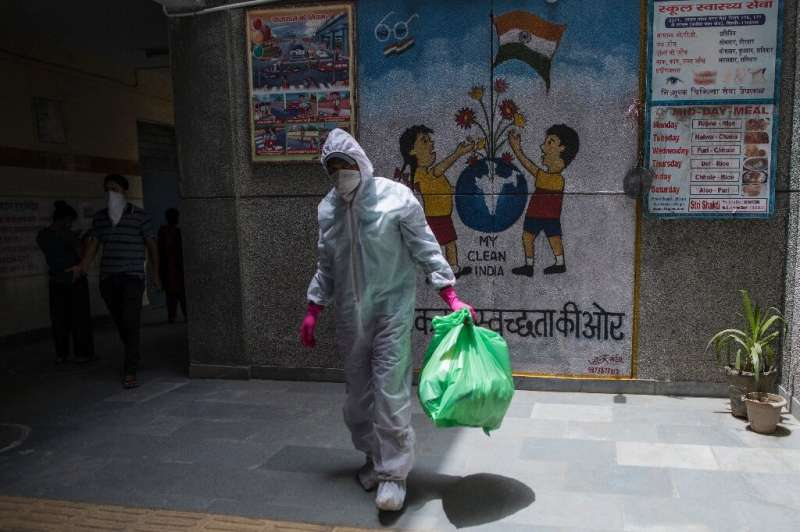 The number of coronavirus infections in India is nearly 400,000