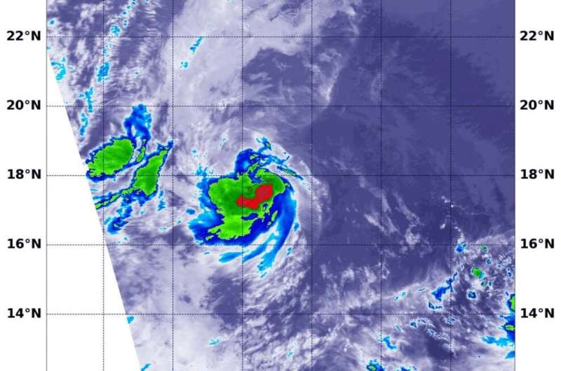 NASA analyzes new eastern Pacific Ocean Tropical Depression 7E