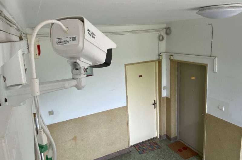 A camera was installed in front of the door of a home in Beijing to monitor the resident's movements