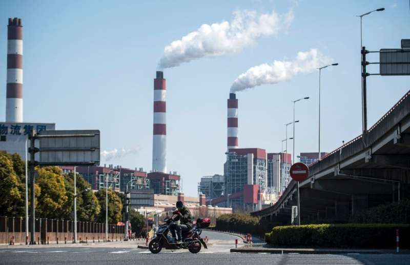 A coal-powered plant in Shanghai. But China is turning towards solar and wind power