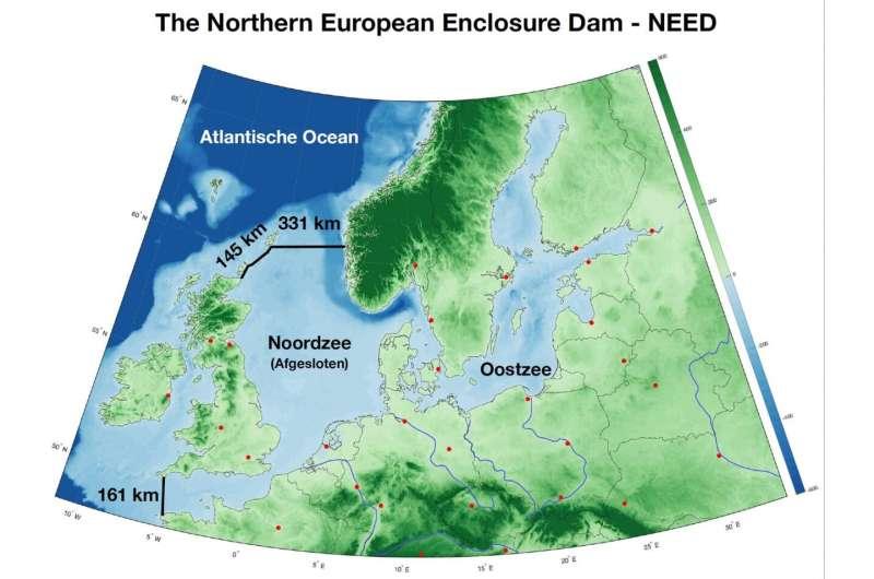 A dam right across the North Sea