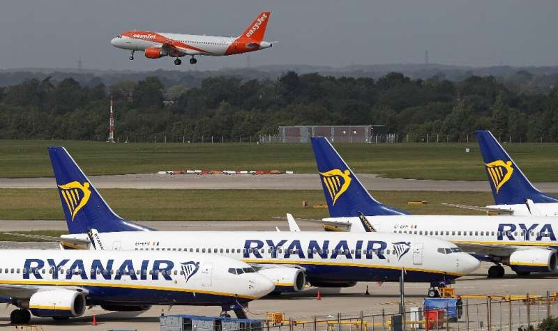A European airline trade association says August traffic was just 30 percent of 2019 levels