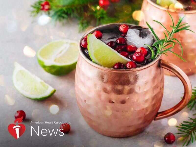 AHA news: keep your holiday drinking on the moderate side with this advice