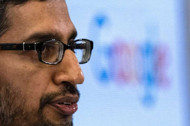 Alphabet CE Sundar Pichai is seen at a conference in Brussels on January 20, 2020