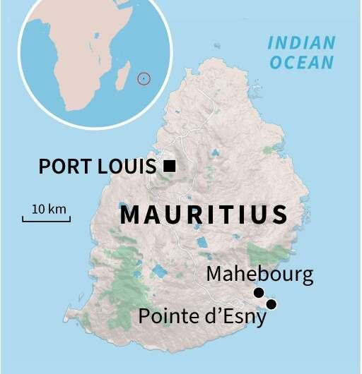 A map of Mauritius