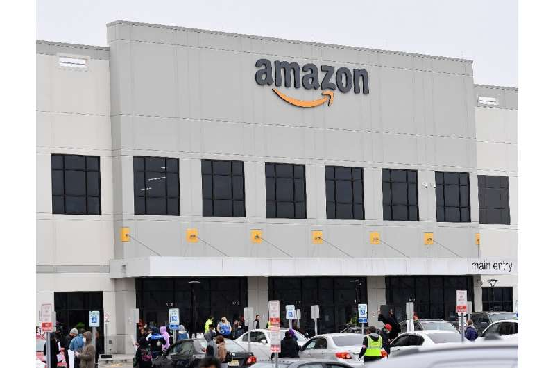 Amazon has faced worker protests such as this one at a New York warehouse as it seeks to show its role in helping deal with the