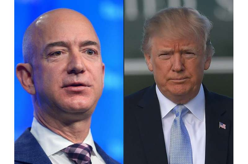Amazon says the tech giant lost a major Pentagon cloud computing contract because of President Donald Trump's animosity for its
