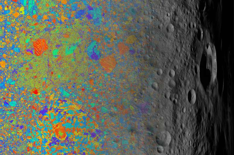 Ancient micrometeoroids carried specks of stardust, water to asteroid 4 Vesta